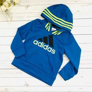Blue adidas hoodie sweat shirt